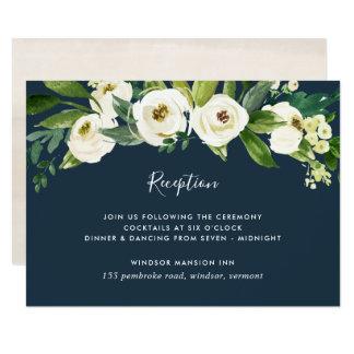 Alabaster- blom- mottagandekort 8,9 x 12,7 cm inbjudningskort
