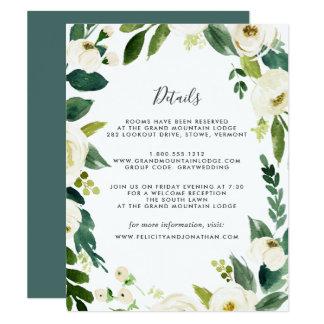 Alabaster- informationskort om gäst 10,8 x 14 cm inbjudningskort