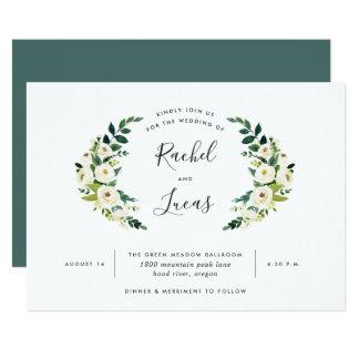 Alabaster- lagrarbröllopinbjudan 12,7 x 17,8 cm inbjudningskort