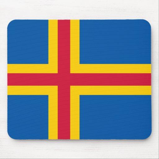 Ålandic flagga Mousepad Musmattor