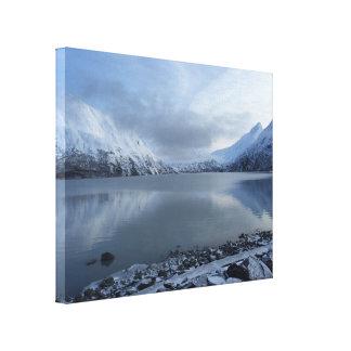 Alaska berg canvastryck