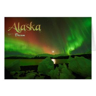 Alaska dröm hälsningskort