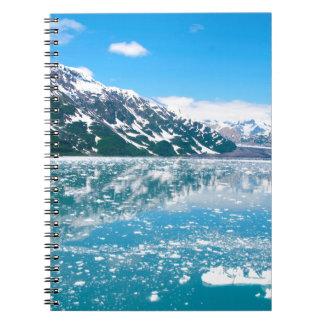 Alaska Glasier Anteckningsbok Med Spiral
