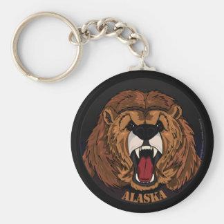Alaska Grizzly Keychain Rund Nyckelring