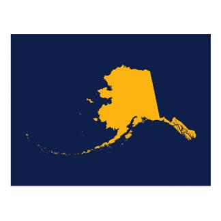 Alaska i blått och guld vykort
