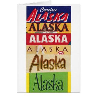Alaska reser affischen tackar dig att card OBS kort