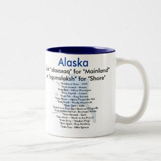 Alaska symboler & karta Två-Tonad mugg
