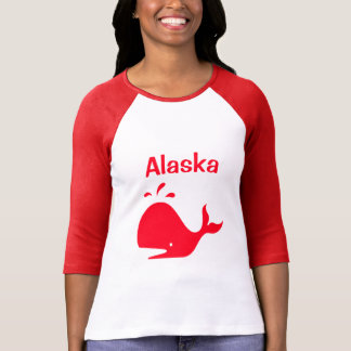 Alaska val röd 4Adrian T Shirts