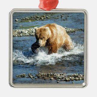 Alaskabo björn julgransprydnad metall
