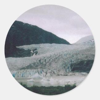 Alaskabo glaciär runt klistermärke