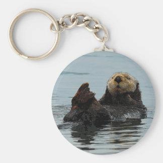 Alaskabo havsutternyckelring rund nyckelring