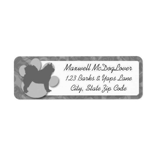 Alaskabo MalamuteSilhouette Returadress Etikett