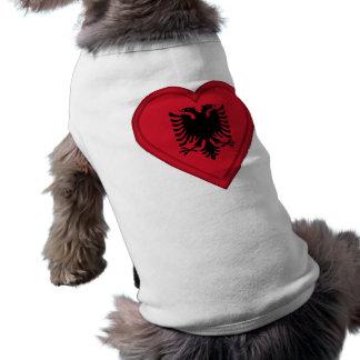Albanien albansk flagga långärmad hundtöja