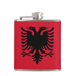 Albanien flagga fickplunta