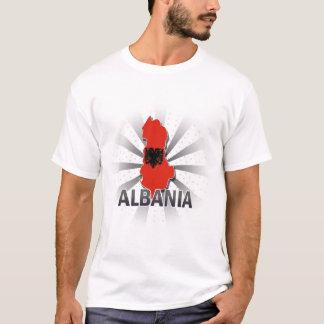 Albanien flaggakarta t shirt