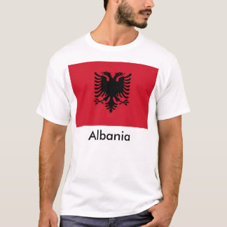 Albanien flaggaT-tröja Tee Shirt