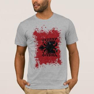 Albanien Grungeflagga Tee Shirt