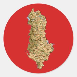 Albanien kartaklistermärke runt klistermärke