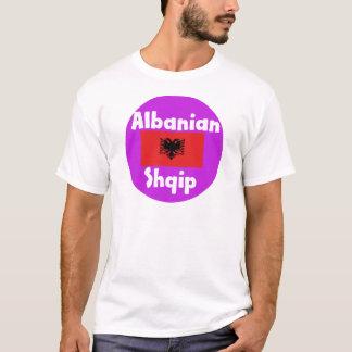 Albanien språk och flaggadesign t shirt