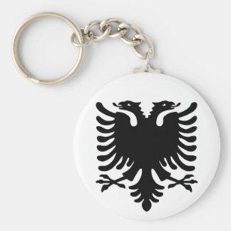 Albansk Eagle. Rund Nyckelring