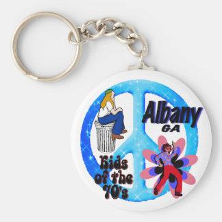 Albany ungar av 70-talkeychainblåtten rund nyckelring