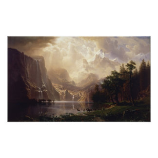 Albert Bierstadt - bland Sierran Nevada Poster