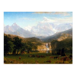 Albert Bierstadt den maximala rocky Vykort