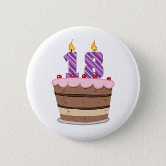 Ålder 18 på födelsedagtårtan standard knapp rund 5.7 cm