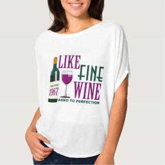 Åldrades fint VIN för NÅGOT LIKNANDE till Tee Shirt