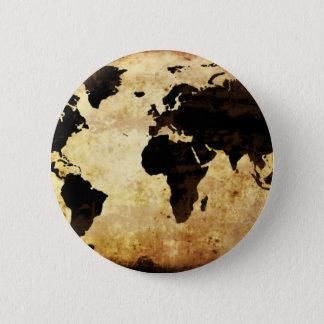 åldras-värld-karta standard knapp rund 5.7 cm