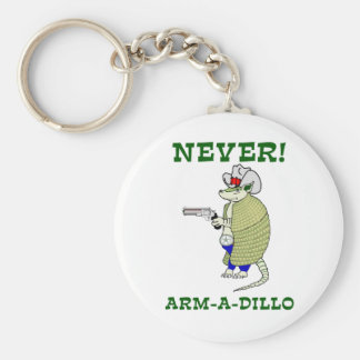 Aldrig Arm-En-Dillo Rund Nyckelring