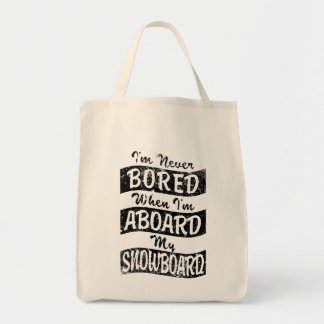 Aldrig borrat OMBORD min SNOWBOARD (Blk) Tygkasse
