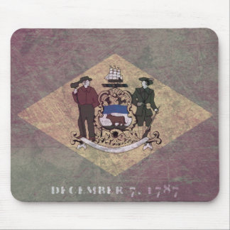 Åldrig Delaware flagga Musmatta