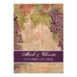 Åldrig inbjudan för druvavingårdbröllop 12,7 x 17,8 cm inbjudningskort