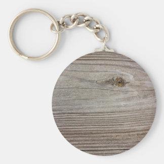Åldrigt trä rund nyckelring