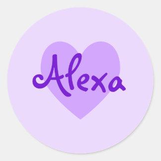 Alexa i lilor runt klistermärke