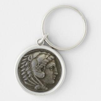 Alexander underbaren rund silverfärgad nyckelring