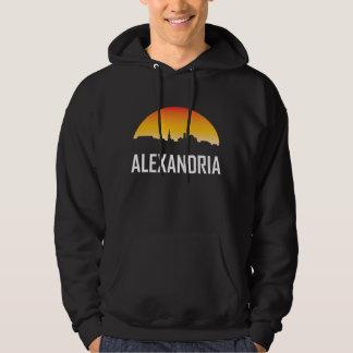 Alexandria Virginia solnedgånghorisont Tröja Med Luva