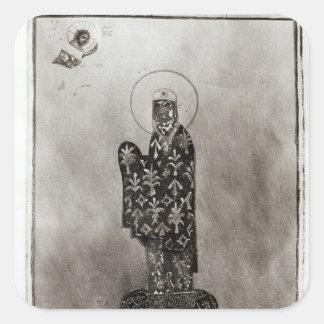 Alexius mig Comnenus, Byzantinekejsare Fyrkantigt Klistermärke