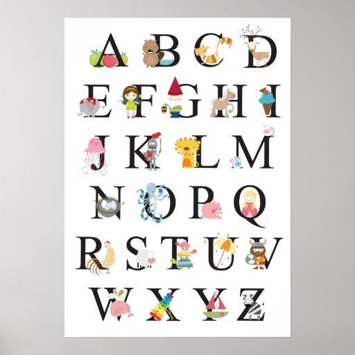 Alfabet Affisch