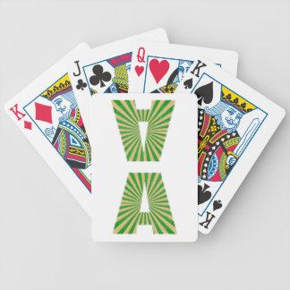 Alfabet för AAA för grön gnistra för Spelkort