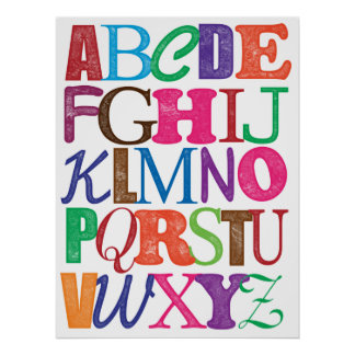 Alfabetaffisch Poster