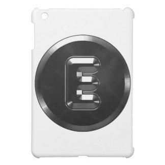 Alfabetet för Monogrambrev E stålsätter stil iPad Mini Mobil Skydd