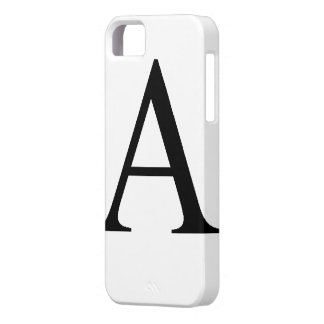 Alfabetisk iPhone 5 Case-Mate Skal