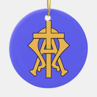 Alfabetisk & Omega julprydnad Julgransprydnad Keramik