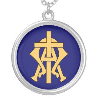 Alfabetisk & Omega Silverpläterat Halsband
