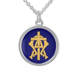 Alfabetisk & Omega Sterling Silver Halsband