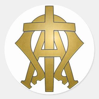 Alfabetisken & den Omega klistermärken