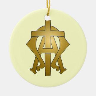 Alfabetisken och Omegaen Julgransprydnad Keramik