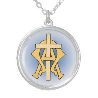 Alfabetisken & Omegaen Silverpläterat Halsband